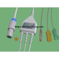 China PETAS ECG Lead Cable KMA160R 165R 260R Redel 6pin With Grabber And Snap for sale