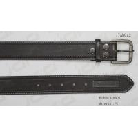 Wholesale Metal Plate / Snap Button Mens Casual Belts Classic PU Material Founded from china suppliers