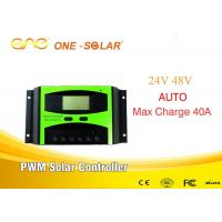 China 40A 50A 60A PWM Solar Charger Controller Solar Panel Charge Long Life for sale