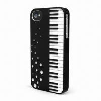Wholesale Dual-injection PC Case for iPhone 4/4S, Fashionable Design of Piano Pattern from china suppliers