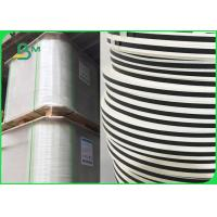 Wholesale Width 14mm 15mm Custom Printed Striped Drinking Straw Paper FDA Biodegradable from china suppliers