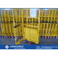 Wholesale Supermarkets Collapsible Steel Containers , 500Kg Load Warehouse Cage Trolley from china suppliers