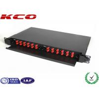 Quality Black Box Fc Fiber Patch Panel 24 Ports Panel by Single Mode FC Pigtail Slide Type for sale