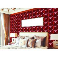 Wholesale 3D Effect Modern Removable wallpaper popular For House Wall , square modern design wallpaper from china suppliers