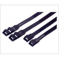 Wholesale Nylon Double Locking Industrial Cable Ties Reusable Black Color Heat Resistant from china suppliers