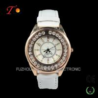New latest  fancy stone watches fashion design and colorful leather band  for ladies