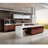 Marble Countertop Closeout Wood Veneer Kitchen Cabinets , Rosewood Kitchen Cupboards