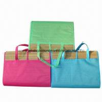 Wholesale New style 2-folding straw beach mats, easy to carry/made of straw, 180x90cm/low price for promotions from china suppliers