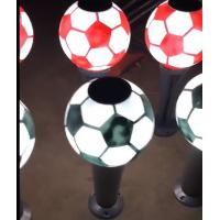 China Football Style Solar Post Lights Solar Bollard Lawn Lights Outdoor LED Garden for sale