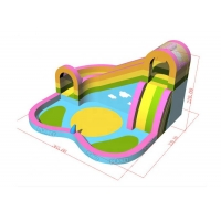 Wholesale Quadruple Stitching Family Inflatable Bouncer With Pool from china suppliers