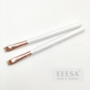 Wholesale White Rose Gold Wood Handle Big Ombre Nail Art Brush Uv Gel Brush Gradient Shading from china suppliers