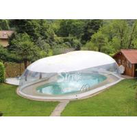 Wholesale Outdoor custom size transparent inflatable pool dome with covered ceiling from china suppliers