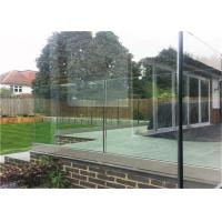 China Luxury U Channel Tempered Glass Railing Systems Flooring Mounted For Pool Fencing on sale