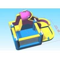 Wholesale Kids 420D Oxford Cloth Inflatable Water Jumping Bouncer from china suppliers