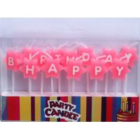 Wholesale Pink Star-shaped Happy Birthday Letter Candles (ZMC0048) from china suppliers