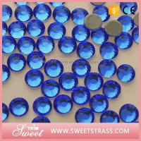 Wholesale MC SS4-SS40 Sapphire Hot Fix Crystal Rhinestone Iron On Strass Wholesale Flat Back Stone for Clothing from china suppliers