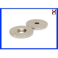 Wholesale NdFeB Countersunk Rare Earth Magnets Neodymium Magnet With One Hole / Two Holes from china suppliers