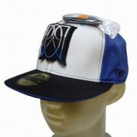 China Flat Peak Cap, Customized Designs are Accepted on sale