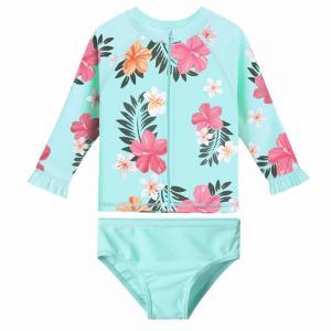 China Recycled Polyamide Toddler Girl Bathing Suits / Rashguard Set UPF50+ Baby Bathing Suit on sale