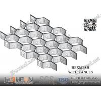 China 3/4 depth X 16gauge AISI304 Stainless Steel Hex-mesh 36X120   China Hexsteel Manufacturer for sale