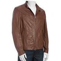 Wholesale men brown leather jackets from china suppliers