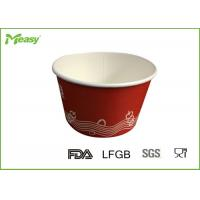 Wholesale Red Disposable Paper Bowl for Frozen Yogurt , 14oz paper ice cream cups from china suppliers