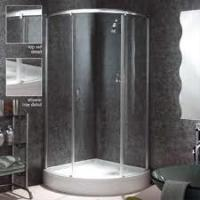 China 8mm safety glass Frameless Shower Enclosure with metal bracket on sale