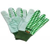 Wholesale Gardening Working Cotton Drill Gloves Beautiful Patterns With Knit Wrist from china suppliers