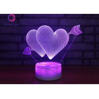 Wholesale 7 Colors Gradual Changing 3D LED Illusion Lamps Touch Switch USB Table Lamp from china suppliers