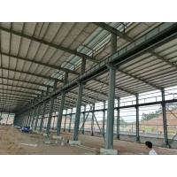 Wholesale Fire Resistance Steel Structure Workshop With Grey Or Blue Color Steel Claddings from china suppliers