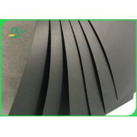 China 31 * 43inch 250gsm 300gsm 350gsm Black Paper Board For Wedding Invitation Card on sale
