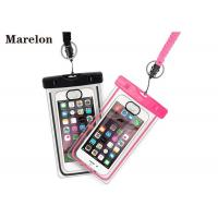 China Transparent Swimming Waterproof Cell Phone Cases With Lanyard Strap on sale