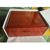 China Square Solid Piano Coating Red Wooden Jewelry Box For Gift Case With Jewelry Storage for sale