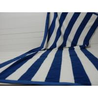 Wholesale Factory Supply 100% cotton Yarn Dyed Jacquard Heavy Blue Stripe Pool Towel from china suppliers