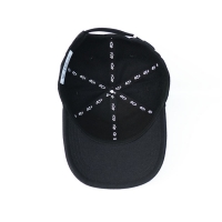 Wholesale Custom design your own brand ACE inner tape printing black 6panel  baseball caps hats from china suppliers