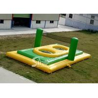 Wholesale Commercial grade small size kids N adults inflatable bossaball court with trampolines in the center from china suppliers
