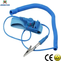 Wholesale RoHS EPA Copper Button Blue 3.6m Cord ESD Wrist Strap from china suppliers
