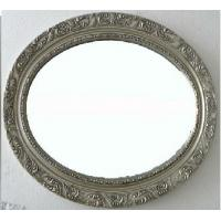 antique silver oval framed bathroom mirror,wood oval wall mirror for sale