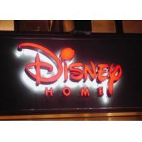 China 3D Acrylic Backlit LED Channel Letters , Illuminated Letter Signage With Metal Painting Face on sale