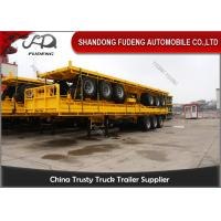 Wholesale 20 Ft 40 Ft Container Flatbed Tractor Semi Trailer With Front Board from china suppliers
