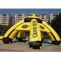 Wholesale 9m outdoor grand royal ceremony inflatable advertising tent with 6 legs printed completely from china suppliers