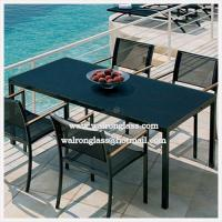 Wholesale Fashion Outdoor Furniture Dining Table with Toughened Glass from china suppliers