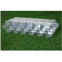 18 Cavities Empty Egg Cartons / Clear Plastic Egg Containers Unbreakable for sale