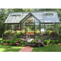 Wholesale Vegetable Growing Aluminium Garden Greenhouse Four Windows Double Sliding Doors from china suppliers