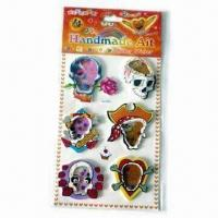 Wholesale EVA Stickers, Exquisite Design, Tiny Beads Inside and 4 Colors Printing from china suppliers