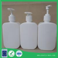 China 500ml shampoo/ lotion bottles with pump in PE material white or clear color for sale
