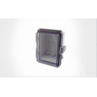 Wholesale Watertight Hinged Plastic Enclosures Abrasion Resistant Light Gray Finish from china suppliers