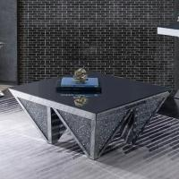 Wholesale Unique design diamond shaped mirrored coffee table crushed diamond console table for living room from china suppliers
