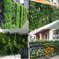 Wholesale PE Fabric Reusable Hanging Flower Bags , Vertical Garden Planters For Vegetable from china suppliers