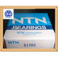 China NTN SKF FAG Thrust Ball Bearing Single Direction Chrome Steel and Stainless Steel on sale